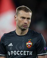 CSKA Moscow's Aleksey Berezutski<br /> <br /> Photographer Rob Newell/CameraSport<br /> <br /> UEFA Europa League Quarter-Final First Leg - Arsenal v CSKA Moscow - Thursday 5th April 2018 - The Emirates - London<br />  <br /> World Copyright &copy; 2018 CameraSport. All rights reserved. 43 Linden Ave. Countesthorpe. Leicester. England. LE8 5PG - Tel: +44 (0) 116 277 4147 - admin@camerasport.com - www.camerasport.com