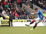 03.11.2018: St Mirren v Rangers: James Tavernier lifts his free kick over the bar