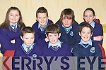 Chris Keane, Oscar O'Connor, Fergal O'Donoghue, Rachel Clifford, Fionn O'Brien, Odran Downey and Sorcha Brosnan Kilcummin NS at the Credit Union quiz in the the Gleneagle Hotel Killarney on Sunday