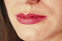 Woman's lips, close-up. Woman. Douglaston NY.