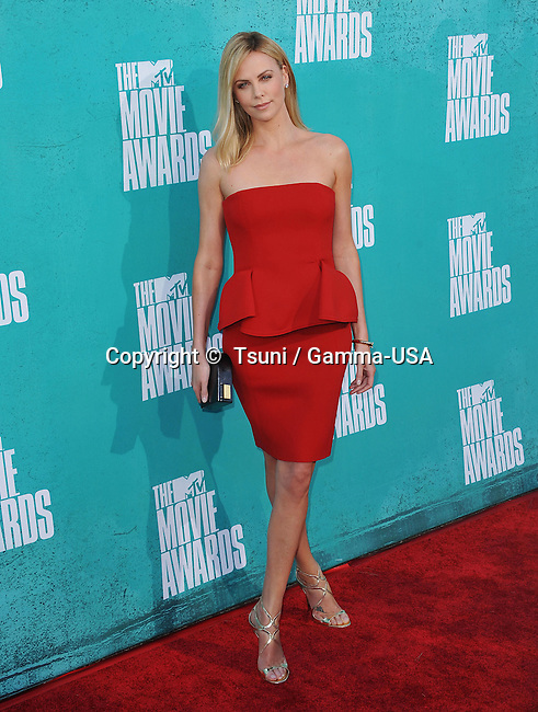 Charlize Theron  at the MTV Movie Awards 2012 at the Universal Amphitheatre in Los Angeles.