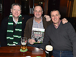 Mick and Adrian Hillman and Andrew Milne pictured at the St Lawrence Celtic Supporters night in The Venue at McHugh's. Photo:Colin Bell/pressphotos.ie