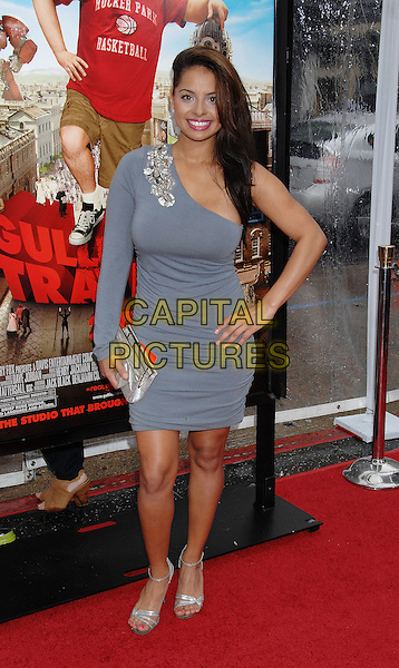 """ELENA DIAZ.Los Angeles Premiere of """"Gulliver's Travels'' at Grauman's Chinese Theatre. Los Angeles, CA, USA,.December 18th, 2010.full length hand on hip silver sandals clutch bag one shoulder grey gray gold beaded .CAP/ROT/TM.©Tony Michaels / Roth Stock/Capital Pictures"""