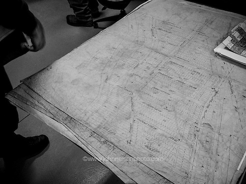 A decades old map shows the location of water pipes and pumps is still in use in Lake Station.