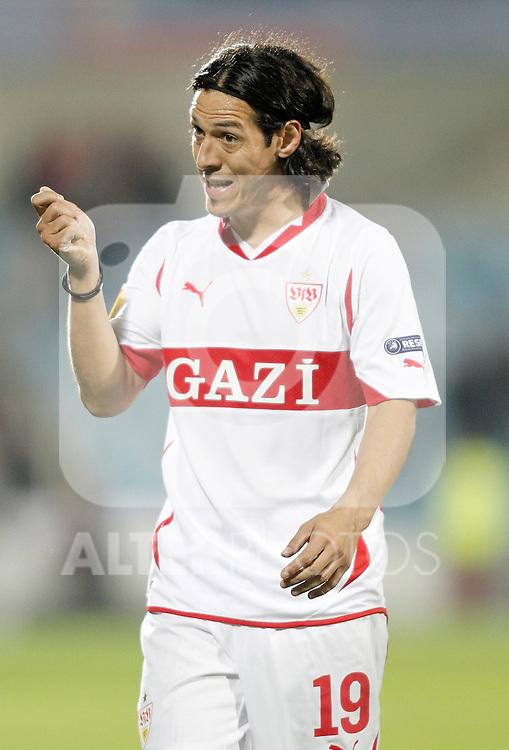 Stuttgart's Mauro Camoranesi reacts during Europa League match. November 04, 2010. (ALTERPHOTOS/Alvaro Hernandez).
