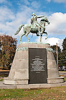 Memorial and burial site of General Israel Putnam, Brooklyn, CT, Connecticut, USA