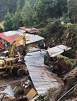 PASTO - COLOMBIA, 12-06-2018: Daños causdos por los dos sismos registrados en la mañana de hoy 12 de junio de 2018, en la ciudad de Pasto, Colombia y sus alrededores. Los sismos, el primero a las 4:35 a.m. con una magnitud de 4,5 y el segundo un minuto más tarde con magnitud de 4,2, en la escala de Richter, tuvieron como epicentro en volcán Galeras ubicado muy cerca de la ciudad de Pasto al sur de Colombia. / Damages caused by two earthquakes recorded in the morning of today, June 12, 2018, at Pasto, Colombia and its surroundings. the earthquakes, the first at 4:35 am and the second one minute later had a magnitude of 4,5 and the second of 4,2 on the Richter scale, had as epicenter the Galeras volcano very close of the Pasto city located at south of Colombia. Photo: VizzorImage / Leonardo Castro / Cont