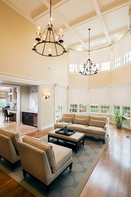 """What makes a Great room """"great""""? No doubt this client's Lutron lighting and shade control system and multiroom audio adds to its greatness by making the room a pleasant environment & simple to operate and enjoy."""