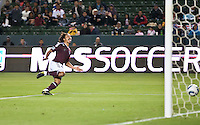 Colorado Rapid forward Quincy Amarikwa (12) celebrates his goal during the first half of the game between Chivas USA and Colorado Rapids at the Home Depot Center in Carson, CA, on March 26, 2011. Final score Chivas USA 0, Colorado Rapids 1.