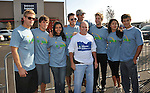 PACOIMA, CA. - October 10: (L-R) Trevor Donovan, Matt Lanter, Jessica Lucas, Colin Egglesfield David Stapf, Thomas Calabro, Shaun Sipos, Stephanie Jaconsen and Michael Rady arrive at The 2009 American Dream Walk To Benefit Habitat For Humanity at Lowe's Home Improvement on October 10, 2009 in Pacoima, California.