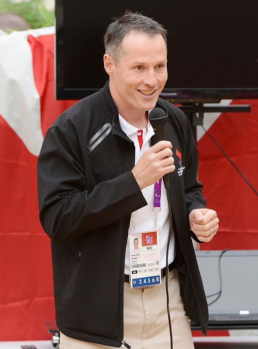 LONDON, ENGLAND – 08/26/2012:  David Legg at Canada's Pep-Rally before the London 2012 Paralympic Games. (Photo by Matthew Murnaghan/Canadian Paralympic Committee)