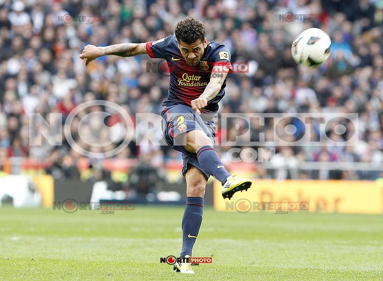 FC Barcelona's Daniel Alves during La Liga match.March 02,2013. (ALTERPHOTOS/Acero) /NortePhoto