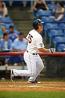 Binghamton Mets designated hitter Matt Oberste (25) during a game against the Trenton Thunder on May 29, 2016 at NYSEG Stadium in Binghamton, New York.  Trenton defeated Binghamton 2-0.  (Mike Janes/Four Seam Images)