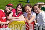 2742-2753.Grace OReilly, Erin Carr, Emily Joy, and Siobhan Clifford, Cromane, soaking up the sunshine at the Cromane GAA Funday on Sunday