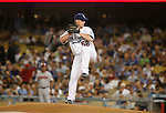 LOS ANGELES, CA. - September 02: Chad Billingsley of the Los Angeles Dodgers  pitching during the game Dodgers vs. the Arizona Diamondbacks at Dodger Stadium in Los Angeles, California on September 2, 2009.