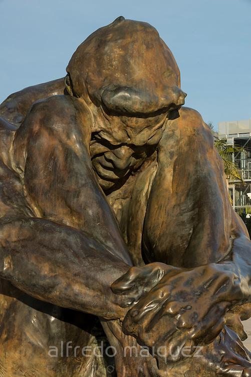 El zulo, monument to the victims of terrorism in Cartagena, (sculptor Victor Ochoa) Murcia province, Spain