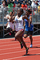 MICDS sophomore Cara Johnson won the 100-12.51 and 200-25.82 meter dashes at the 2016 MSHSAA Class 4 District 3 Track and Field Meet at Ladue High School, St. Louis, Saturday, May 14.