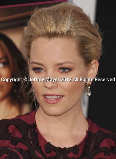 HOLLYWOOD, CA - MAY 14: Elizabeth Banks attends the Los Angeles premiere of 'What To Expect When You're Expecting' at Grauman's Chinese Theatre on May 14, 2012 in Hollywood, California.