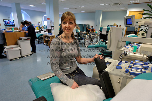 Blood Transfusion Centre - Glasgow - Aimee Dalrymple - picture by Donald MacLeod – 10.11.11 – clanmacleod@btinternet.com 07702 319 738 donald-macleod.com
