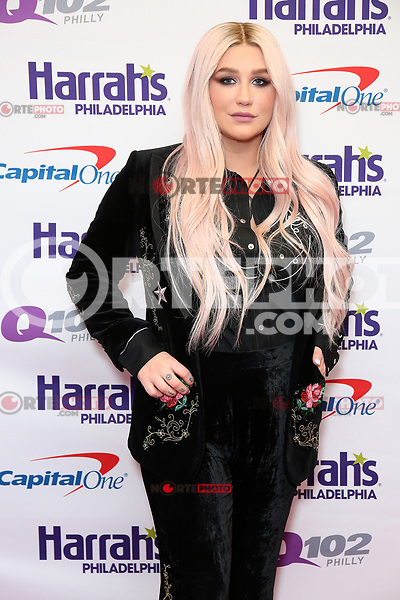 PHILADELPHIA, PA - DECEMBER 6 :  Kesha pictured back stage at Q102's Jingle Ball at a meet and greet at the Wells Fargo Center in Philadelphia, Pa on December 6, 2017  ***HOUSE COVERAGE Credit: Star Shooter / MediaPunch /nortephoto.com NORTEPHOTOMEXICO