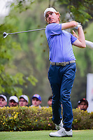 Roberto Castro (USA) watches his tee shot on 18 during round 3 of the World Golf Championships, Mexico, Club De Golf Chapultepec, Mexico City, Mexico. 3/4/2017.<br /> Picture: Golffile | Ken Murray<br /> <br /> <br /> All photo usage must carry mandatory copyright credit (&copy; Golffile | Ken Murray)