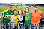 Pictured at the Minor and Senior Munster final held at Fitzgerald Stadium, Killarney on Sunday, were l-r: Mike, Martina and Edel Joy (Ballydonoghue) with Kate Gorey (Limerick) and Billy Joy (Ballydonoghue).