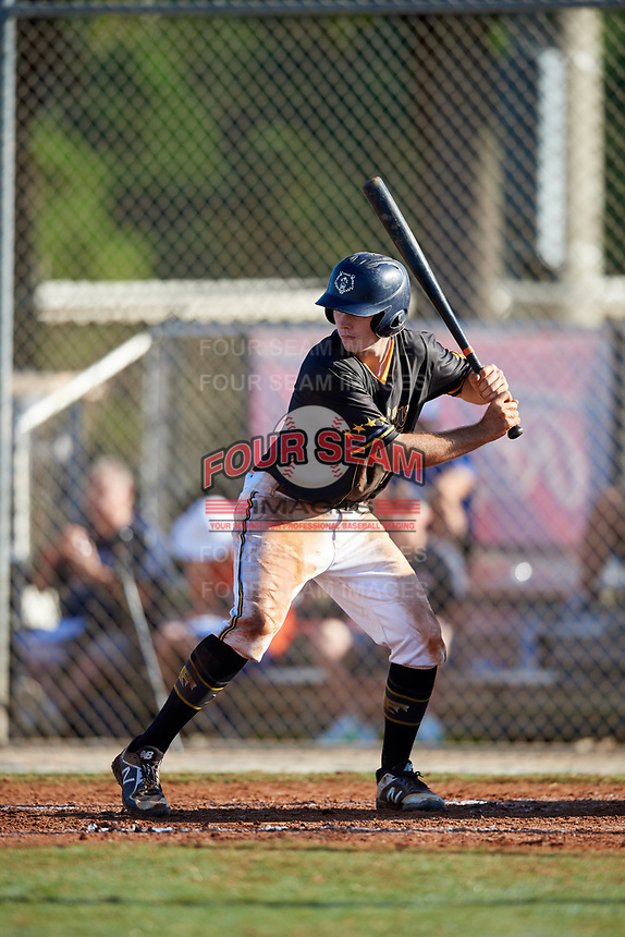 Tyler McKenna during the WWBA World Championship at the Roger Dean Complex on October 21, 2018 in Jupiter, Florida.  Tyler McKenna is a catcher from Valrico, Florida who attends Newsome High School and is committed to Jacksonville.  (Mike Janes/Four Seam Images)
