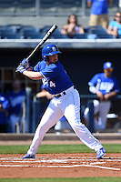 Indiana State Sycamores infielder Cody Gardner (4) at bat during a game against the Vanderbilt Commodores on February 21, 2015 at Charlotte Sports Park in Port Charlotte, Florida.  Indiana State defeated Vanderbilt 8-1.  (Mike Janes/Four Seam Images)