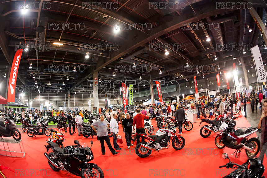 VALENCIA, SPAIN - NOVEMBER 7: Honda stand during DOS RODES at Feria Valencia on November 7, 2015 in Valencia, Spain