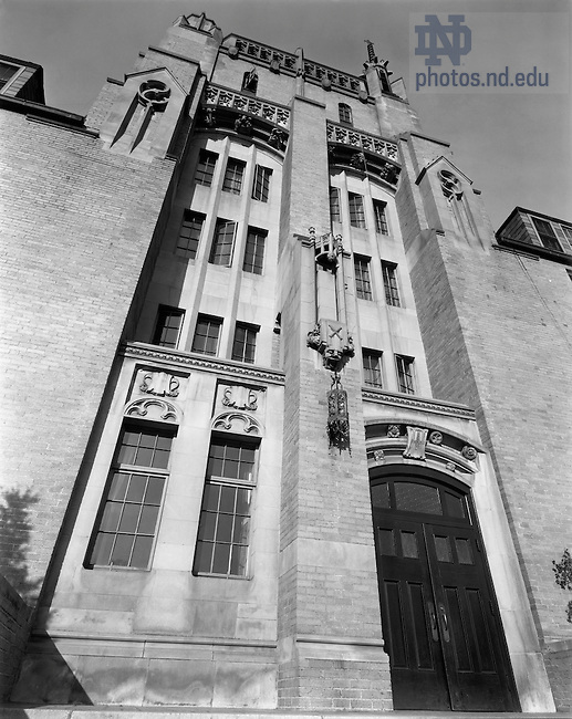 GNDL 6/06:  Morrissey Hall exterior, c1930s..Image from the University of Notre Dame Archives.