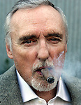 Dennis Hopper, pphotographed at his venice home, march 4, 2008. This is for a story about the CineVegas film festival, which is celebrating its 10th anniversary. Actor Dennis Hopper is the chairman of the festival, which spans from the premiere of studio releases to experimental, indie film.