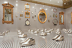 """Installation view of """"Thom Browne Selects."""" Photo by Matt Flynn © 2016 Cooper Hewitt, Smithsonian Design Museum"""