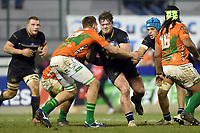 Nick Auterac of Bath Rugby takes on the Benetton Rugby defence. European Rugby Champions Cup match, between Benetton Rugby and Bath Rugby on January 20, 2018 at the Municipal Stadium of Monigo in Treviso, Italy. Photo by: Patrick Khachfe / Onside Images