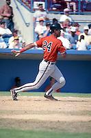 Baltimore Orioles Dwight Evans (24) during spring training circa 1991 at Ed Smith Stadium in Sarasota, Florida.  (MJA/Four Seam Images)