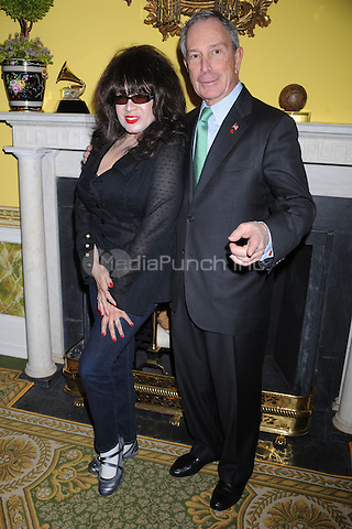 Ronnie Spector and Mayor Michael Bloomberg attend the New York Chapter GRAMMY nominee reception hosted by Mayor Michael Bloomberg at Gracie Mansion on January 20, 2011 in New York City. Credit: Dennis Van Tine/MediaPunch