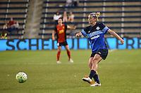 Kansas City, Kansas - Saturday April 16, 2016: FC Kansas City midfielder Jen Buczkowski (6) clears the ball against Western New York Flash at Children's Mercy Park. Western New York won 1-0.