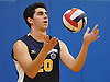 Sam Maritato #20 of Northport serves during the round-robin portion of a Suffolk County varsity boys volleyball tournament match against Connetquot at Northport High School on Saturday, Sept. 10, 2016.