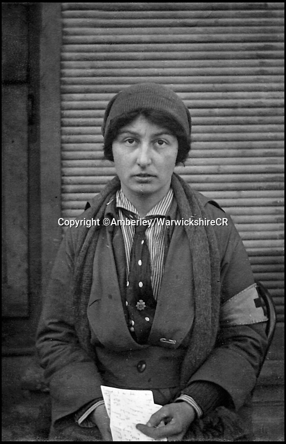 BNPS.co.uk (01202 558833)Pic: Amberley/WarwickshireCR/BNPS<br /> <br /> Lady Dorothie Feilding was the  first woman to be awarded the Military Medal for bravery in the  field.<br /> <br /> These remarkable photos feature in a new book which highlights the crucial role volunteers played in the First World War.<br /> <br /> Former archaeologist Sally White has shed new light on the tireless efforts of men, women and children who supported the soldiers both on the front line and at home.<br /> <br /> They include heiress Lady Dorothie Feilding who shunned her aristocratic background to become a highly decorated volunteer nurse and ambulance driver on the Western Front.