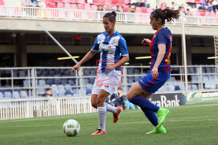 Spanish Women's Football League Iberdrola 2016/17 - Game: 21.<br /> FC Barcelona vs RCD Espanyol: 5-0.<br /> Elba Verges vs Olga Garcia.