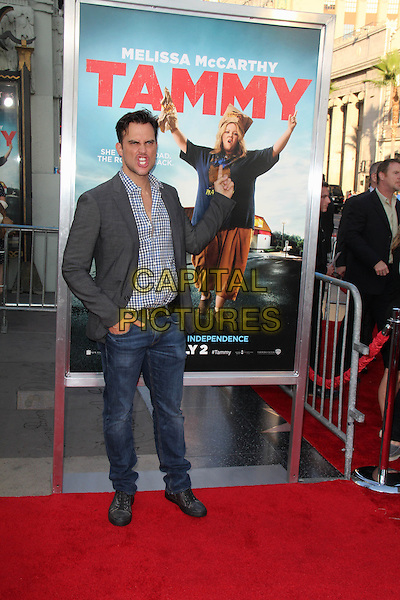 HOLLYWOOD, CA - June 30: Cheyenne Jackson at the &quot;Tammy&quot; Premiere, TCL Chinese Theater, Hollywood,  June 30, 2014.  <br /> CAP/MPI/JO<br /> &copy;Janice Ogata/MediaPunch/Capital Pictures