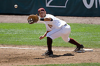 Arizona State's Riccio Torrez in Game 4 of the NCAA Division One Men's College World Series on Monday June 21st, 2010 at Johnny Rosenblatt Stadium in Omaha, Nebraska.  (Photo by Andrew Woolley / Four Seam Images)