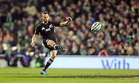 19th November 2016 | IRELAND vs NEW ZEALAND<br /> <br /> Aaron Cruden during the Autumn Series International clash between Ireland and New Zealand at the Aviva Stadium, Lansdowne Road, Dublin,  Ireland. Photo by John Dickson/DICKSONDIGITAL