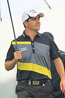Felipe Aguilar (CHI) walks to the 3rd tee during Thursday's Round 1 of the 2014 BMW Masters held at Lake Malaren, Shanghai, China 30th October 2014.<br /> Picture: Eoin Clarke www.golffile.ie