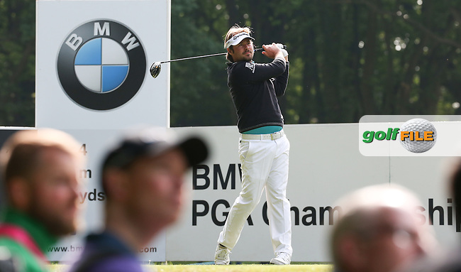 Victor Dubuisson (FRA) during Round Two of the 2016 BMW PGA Championship over the West Course at Wentworth, Virginia Water, London. 27/05/2016. Picture: Golffile | David Lloyd. <br /> <br /> All photo usage must display a mandatory copyright credit to &copy; Golffile | David Lloyd.
