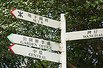 Sign Post in a Park near Wan Chai
