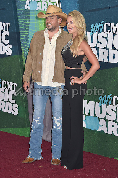 10 June 2015 - Nashville, Tennessee - Jason Aldean, Brittany Kerr. 2015 CMT Music Awards held at Bridgestone Arena. Photo Credit: Laura Farr/AdMedia