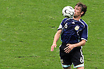 30 June 2006: Gabriel Heinze (ARG). Germany tied Argentina 1-1 at the Olympiastadion in Berlin, Germany in match 57, a Quarterfinal game in the 2006 FIFA World Cup. Germany advanced on Penalty Kicks, 4-2.