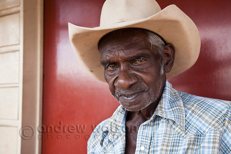 Portrait of an indigenous stockman.  Cooktown, Queensland, Australia