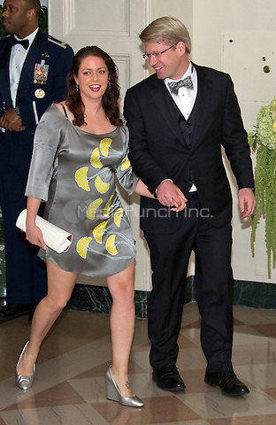 Ian Simmons, Co-Founder &amp; Principal, Blue Haven Initiative and Liesel Simmons arrive for the State Dinner in honor of Prime Minister Trudeau and Mrs. Sophie Gr&Egrave;goire Trudeau of Canada at the White House in Washington, DC on Thursday, March 10, 2016.<br /> Credit: Ron Sachs / Pool via CNP/MediaPunch