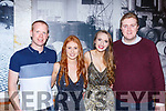 Alan Donovan, Belinda Jennings, Naomi Helen and Joe Fitzgibbon enjoying New Years Eve in Reidys bar Killarney on Monday night